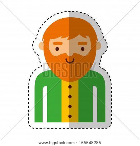 leprechaun irish character icon vector illustration design