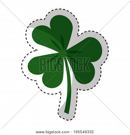 Saint patricks clover icon vector illustration design