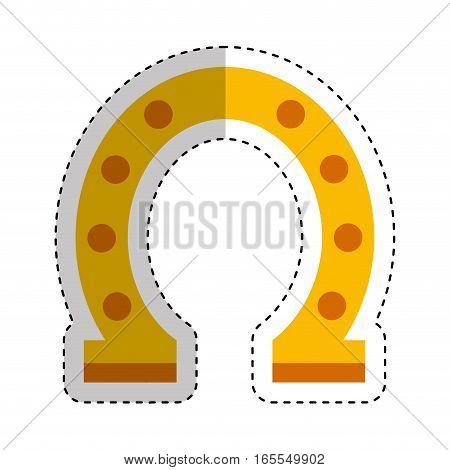 horseshoe luck isolated icon vector illustration design
