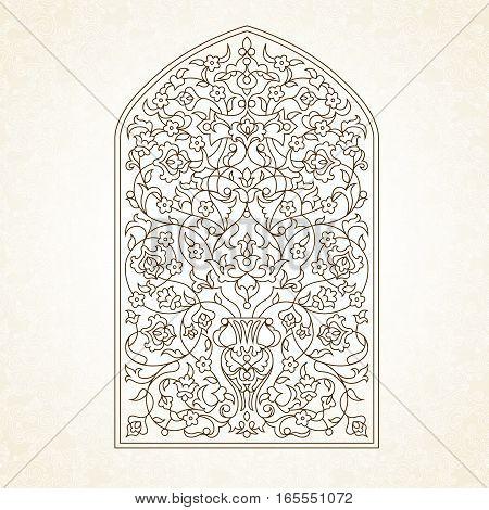 Vector Ornate Illustration In Eastern Style.