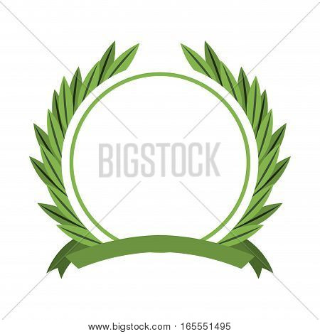wreath crown frame icon vector illustration design