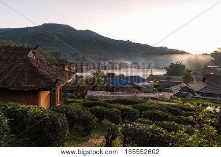 Ban Rak Thai a Chinese village Mae Hong Sorn province Thailand.
