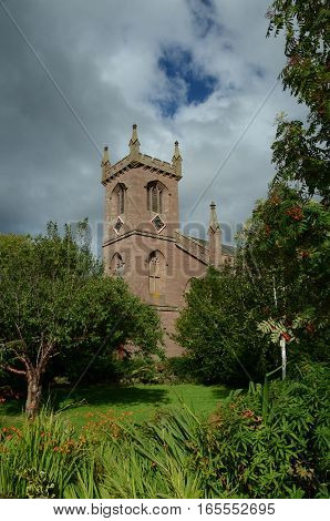 A view of a church tower in Muthill