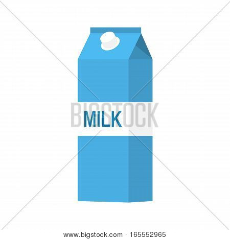 paper packet with milk isolated on white. vector illustration in flat style For web, info graphics.