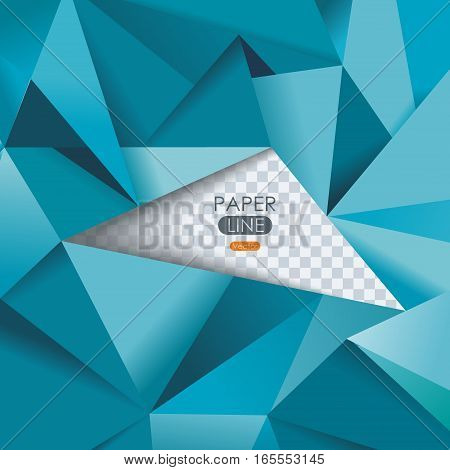 Abstract geometrical background polygonal design with ragged hole. Vector illustration.