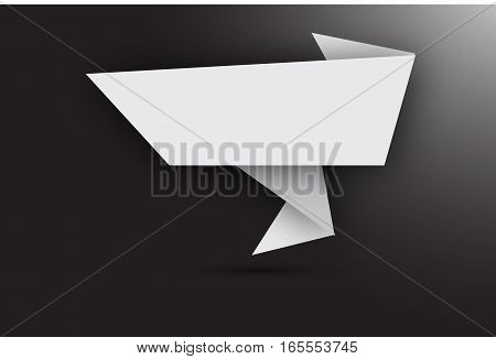 Abstract origami banner. Suits well for design