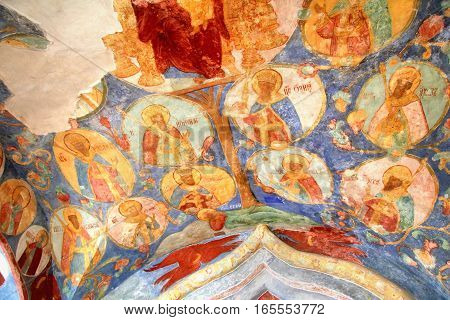 SUZDAL, RUSSIA - AUGUST 23: Interior of the Church of Transfiguration of the Monastery of Saint Euthymius.