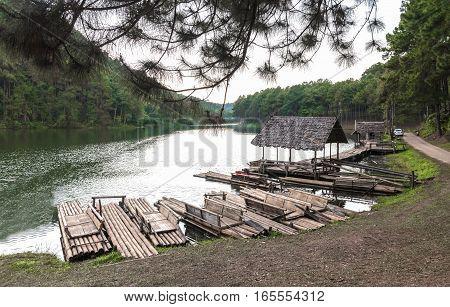 Pang Ung forestry plantations Mae hong son province Thailand.