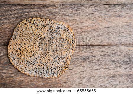 The Vietnamese Sesame Rice Cracker Is Called Banh Da And Is Made Of Tapioca Flour, Rice Flour, Salt,