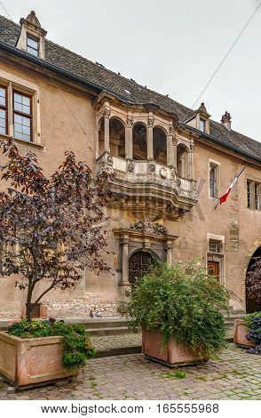 Former Guard House was built in 1575 in the Renaissance style Colmar France