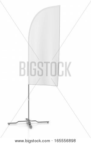 Blank Advertising Banner Flag Mockup.