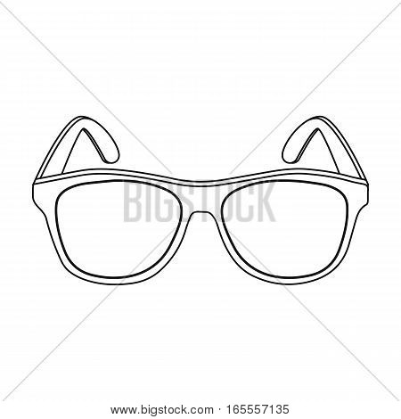 Yellow trendy sunglasses icon in outline design isolated on white background. Brazil country symbol stock vector illustration.