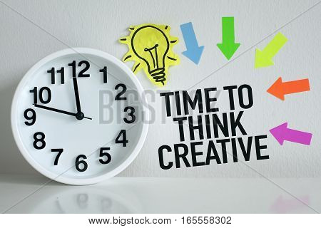 Creativity thinking creative ideas concept in office