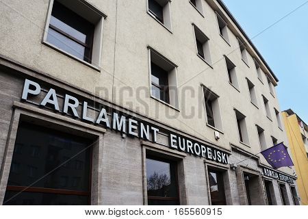 Building of The European Parliament and European Commission in Wroclaw