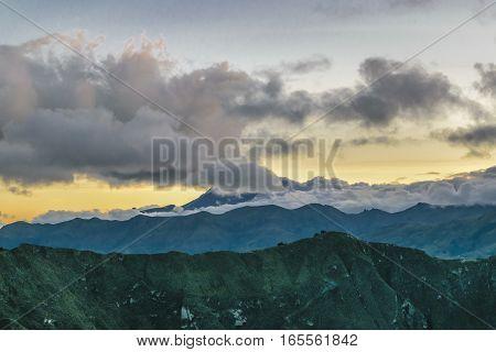 Andes Range Mountains Latacunga Ecuador