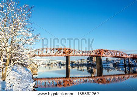 Broadway Bridge Reflection