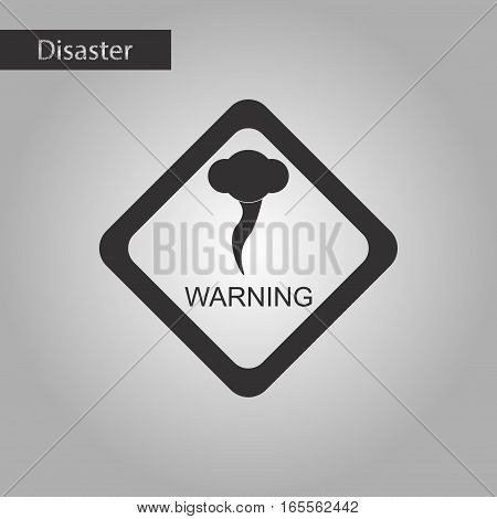 black and white style icon of hurricane tornado
