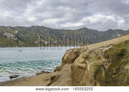 Shore At Quilotoa Lake, Latacunga, Ecuador