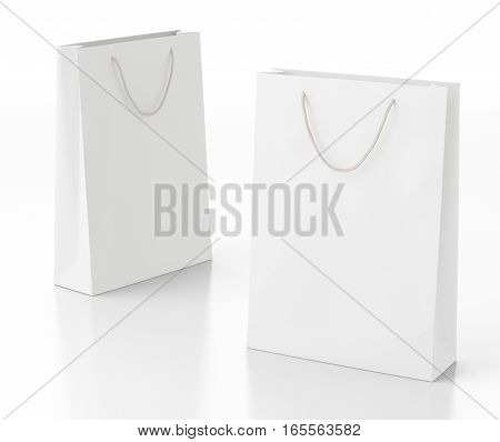 Blank Paper Shopping Bag
