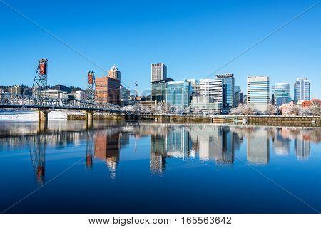 Portland, Oregon Reflection