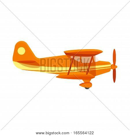 Vector flat style illustration of plane. Icon for web. Isolated on white background.