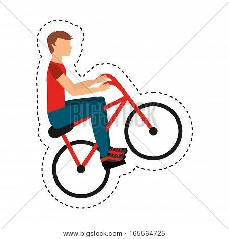 bicycle extreme sport icon vector illustration design