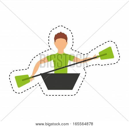 kayak extreme sport icon vector illustration design
