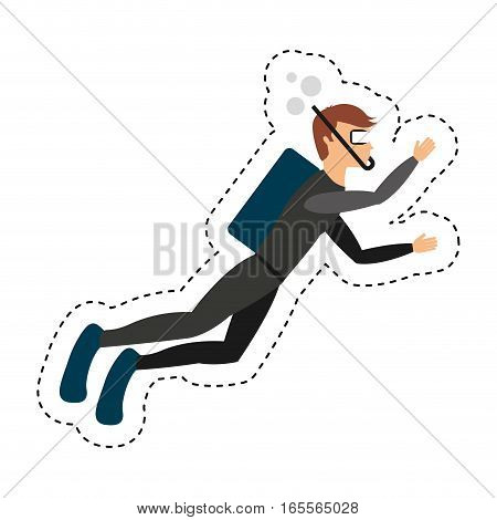 diving extreme sport icon vector illustration design