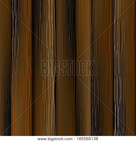 Dark Wood Vectical Planks. Wooden Texture Pattern