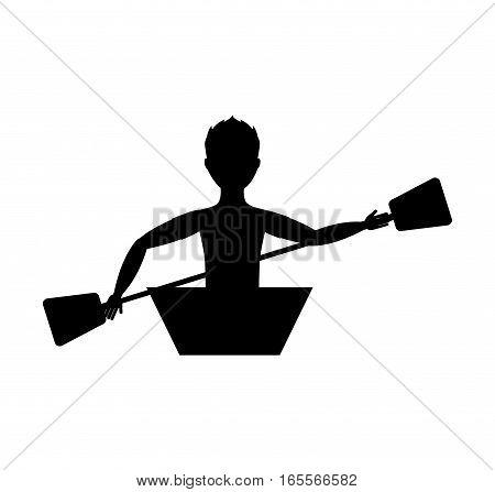 kayak extreme sport icon vector illustration design