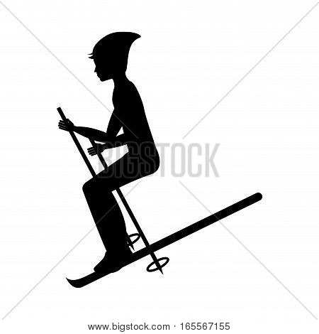 snow ski extreme sport vector illustration design