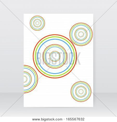 Abstract business brochure circles on a white background. Vector illustration .