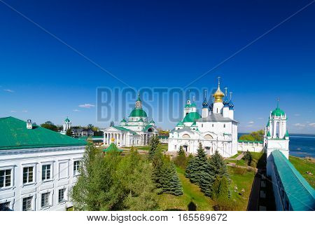 Spaso-yakovlevsky Monastery And Zachatievsky Cathedral In Rostov, Yaroslavl Oblast, Russia