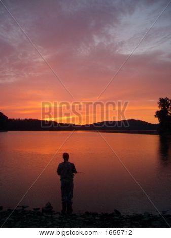 Late Night Fisherman