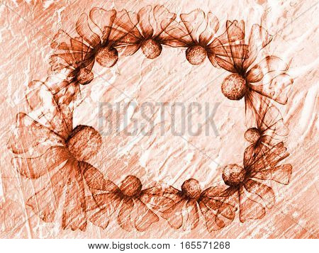 Floral Style Smoke Brown Line Ornament Background, Flower Abstract