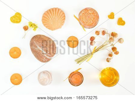 Spa Attributes Yellow Orange Sets