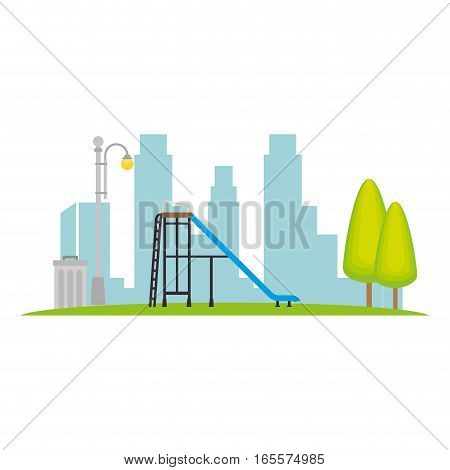 Neighborhood playground place icon vector illustration design