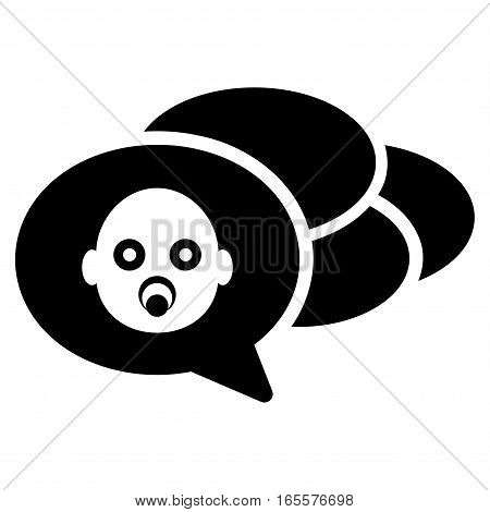 Baby Dreams vector icon. Flat black symbol. Pictogram is isolated on a white background. Designed for web and software interfaces.