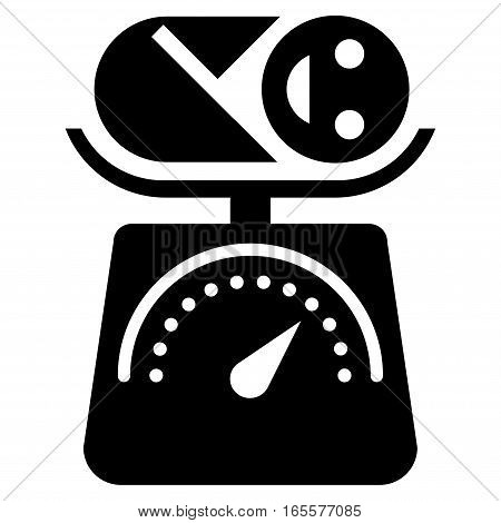 Baby Weight vector icon. Flat black symbol. Pictogram is isolated on a white background. Designed for web and software interfaces.
