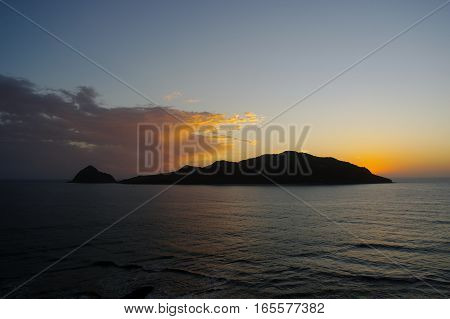 Deer Island off the mainland of Playa Gaviotas at Mazatlan,Sinaloa,Mexico.