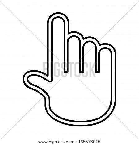 hand pointer cursor icon vector illustration design