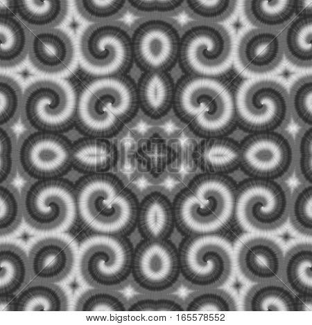 Decorative black and white ornate ornamental square tile