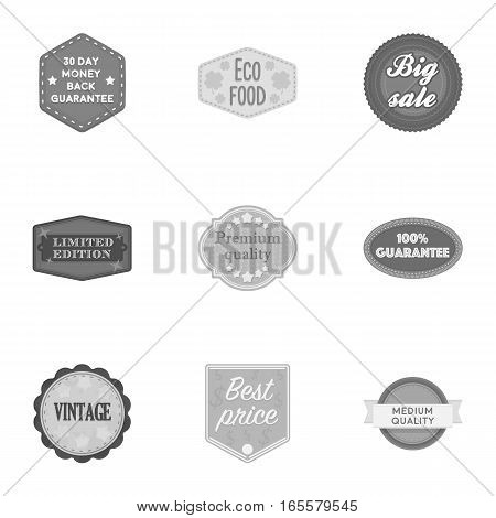 Label set icons in monochrome style. Big collection of label vector symbol stock