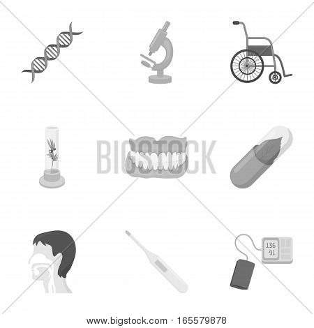 Medicine and hospital set icons in monochrome style. Big collection of medicine and hospital vector symbol stock
