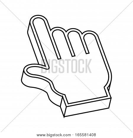 hand pointer cursor icon vector illustration design