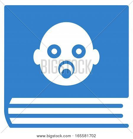 Baby Album vector icon. Flat cobalt symbol. Pictogram is isolated on a white background. Designed for web and software interfaces.