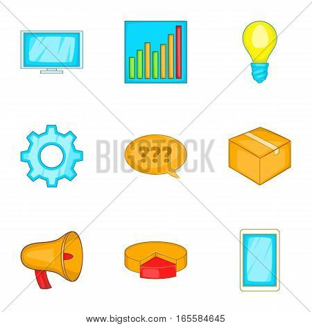 Business, strategy, marketing, finance icons set. Cartoon illustration of 9 business, strategy, marketing, finance vector icons for web
