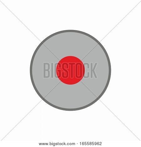 Record button icon vector design isolated on white background