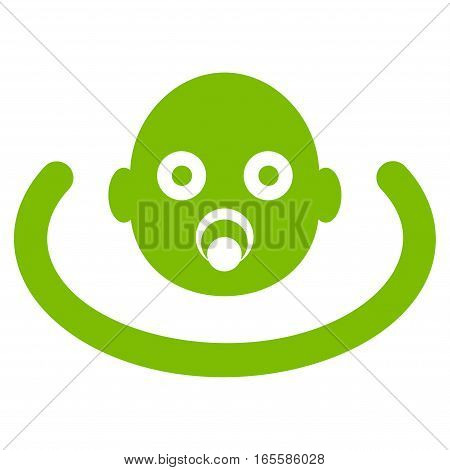 Baby Environment vector icon. Flat eco green symbol. Pictogram is isolated on a white background. Designed for web and software interfaces.