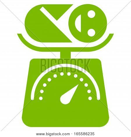 Baby Weight vector icon. Flat eco green symbol. Pictogram is isolated on a white background. Designed for web and software interfaces.